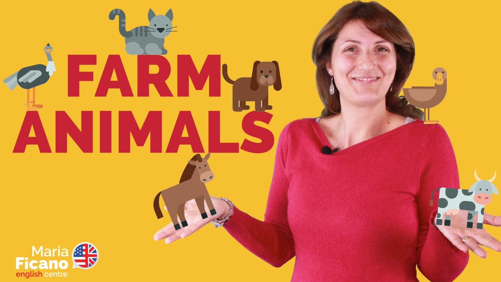 inglese animali fattoria