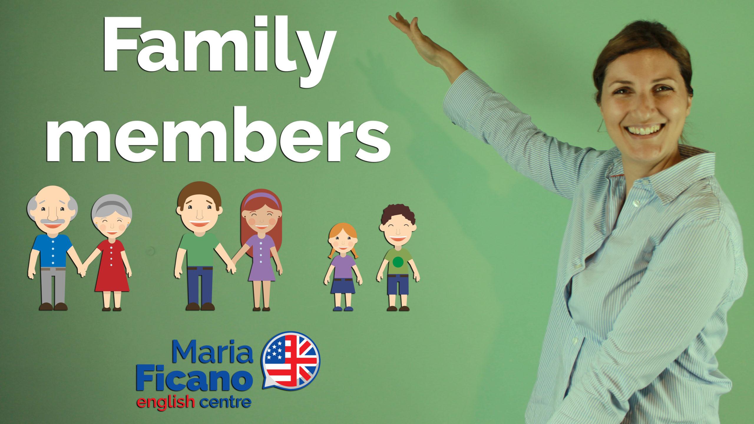 family members inglese famiglia